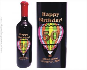 Engraved Wine Bottle Balloon