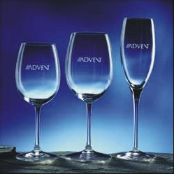 Engraved Wine Glasses Arcadia